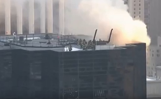 VIDEO Incendiu la Trump Tower din New York