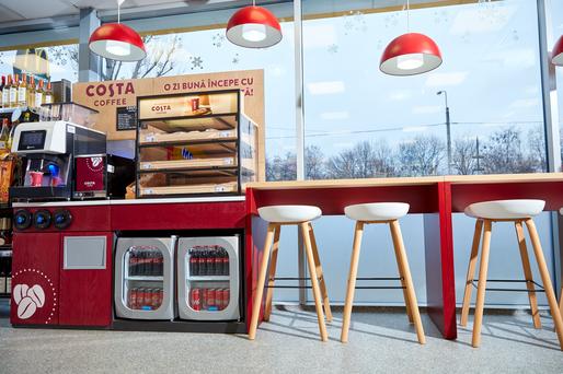 Auchan Retail România și Costa Coffee - parteneriat pentru a introduce coffee corners în toate magazinele MyAuchan din stațiile Petrom