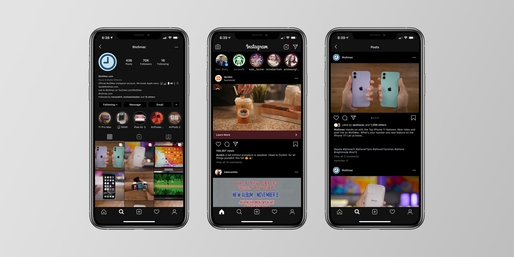 "Instagram pentru iPhone are ""Dark Mode"""