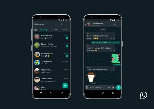 VIDEO&FOTO WhatsApp lansează Dark Mode