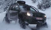VIDEO Dacia Duster cu șenile - demonstrație pe pârtia Transalpina