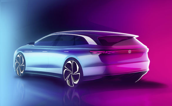 PHOTO Volkswagen launches a new electric car, ID. ROOM VIZZION, at the Los Angeles Exhibition