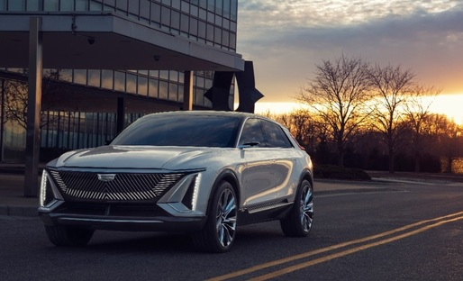 FOTO & VIDEO Marca de lux a GM, Cadillac, a prezentat primul automobil electric