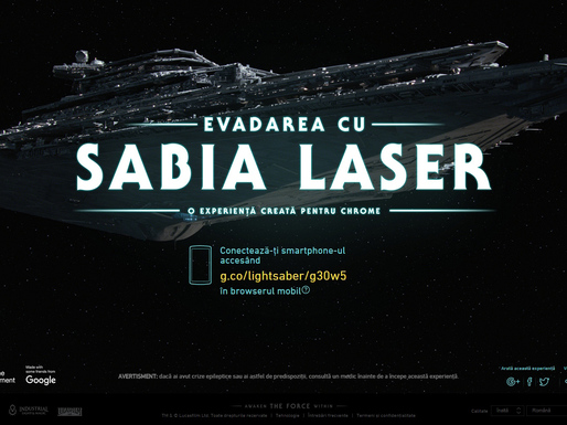 Google a creat un joc Star Wars în care telefonul este pe post de sabie laser