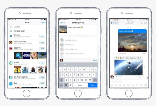 Facebook Messenger adaugă suport pentru Dropbox și video Chat Heads