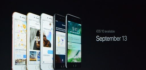 iOS 10 va fi disponibil din 13 septembrie