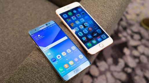 VIDEO iPhone 7 vs Galaxy Note 7, test de viteză