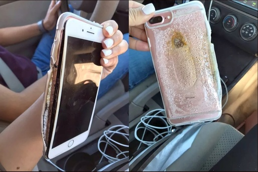 VIDEO Un iPhone 7 Plus a luat foc din senin. Apple investighează problema