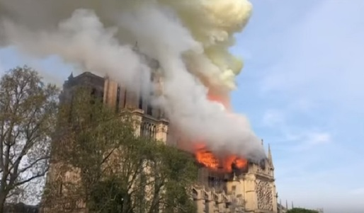 VIDEO Incendiu în Catedrala Notre-Dame din Paris