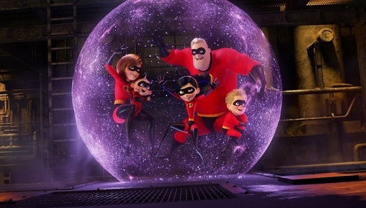 "Animația ""Incredibles 2"" a debutat în box office-ul nord-american cu încasări record, depășind ""Beauty and the Beast"""
