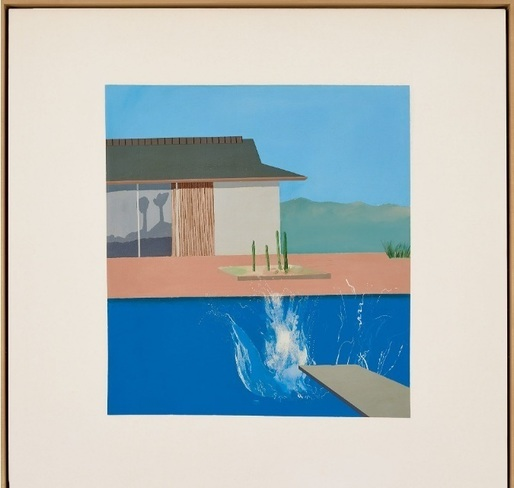 """The Splash"", o pictură emblematică a lui David Hockney, de vânzare la Sotheby's"