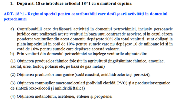 DOCUMENT Petrochimiștii pot deveni noii