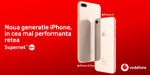 iPhone 8 și iPhone 8 Plus sunt disponibile în oferta Vodafone la prețuri ce pleacă de la 299 euro