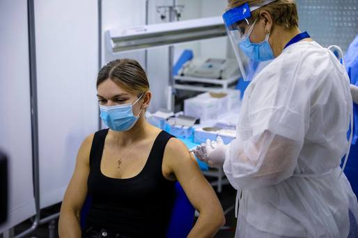 VIDEO Simona Halep s-a vaccinat anti-Covid 19