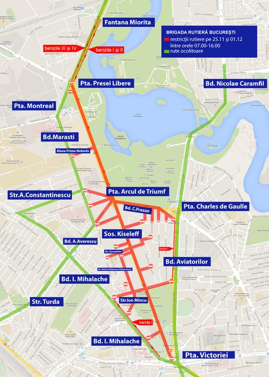 Harta Restricțiilor De Trafic In Capitală Repetiții Pentru 1