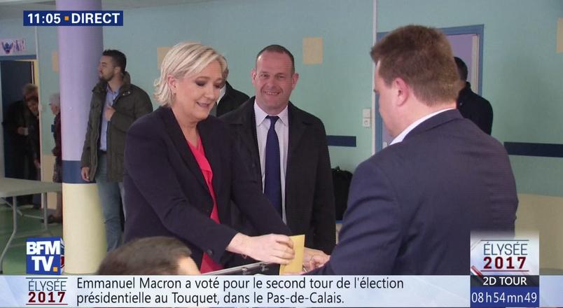 Candidata de extremă-dreapta la alegerile prezidenţiale din Franţa, Marine Le Pen, a votat