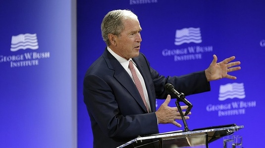 "George W. Bush atacă ""trumpismul"" abia voalat într-un discurs la New York - VIDEO"