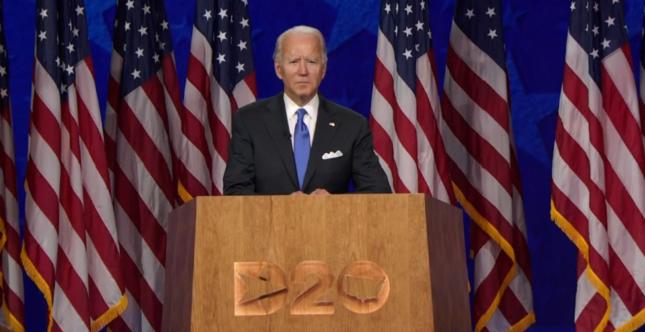 Convenţia Democrată - Joe Biden a acceptat nominalizarea pentru rolul de candidat la preşedinţie: Voi fi un aliat al luminii, nu al întunericului