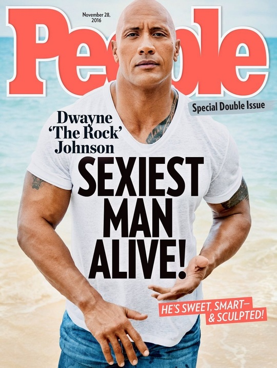 Dwayne The Rock Johnson - Sexiest Man Alive (Foto: Twitter)