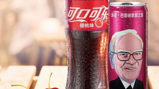Warren Buffett apare pe cutiile de Cherry Coke din China