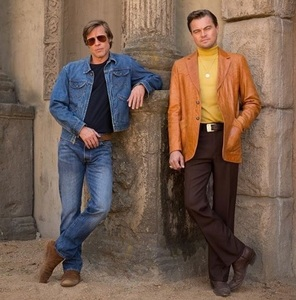 "Leonardo DiCaprio a publicat prima imagine alături de Brad Pitt de pe platourile de filmare de la ""Once Upon a Time in Hollywood"""