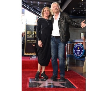 Antreprenorul miliardar Richard Branson a primit o stea pe Hollywood Walk of Fame