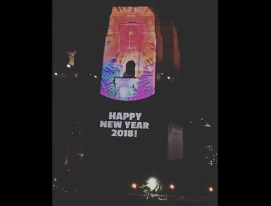 "Eroare de Anul Nou: ""Happy New Year 2018!"", proiectat pe Harbour Bridge din Sydney"
