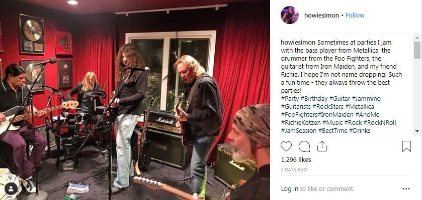 Membri ai trupelor Metallica, Foo Fighters şi Iron Maiden au cântat împreună la o petrecere