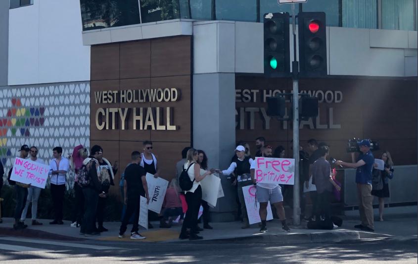 Protest la Los Angeles pentru externarea lui Britney Spears din centrul de tratament psihiatric