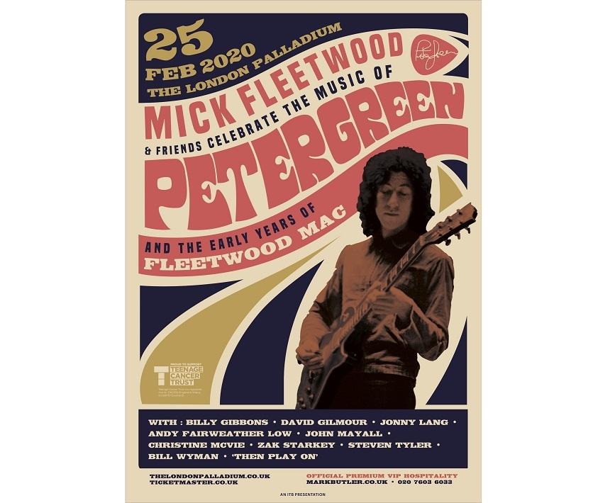Steven Tyler, Christine McVie şi David Gilmour, concert în onoarea lui Peter Green, fondator al trupei Fleetwood Mac