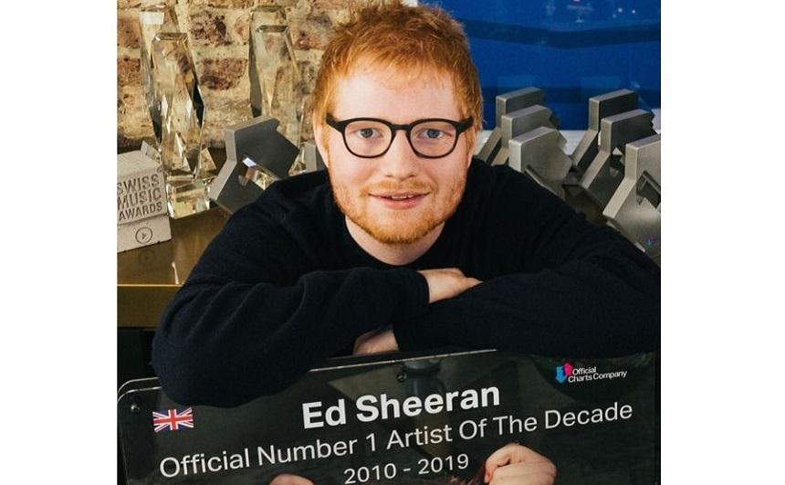 Ed Sheeran, desemnat în Marea Britanie artistul deceniului