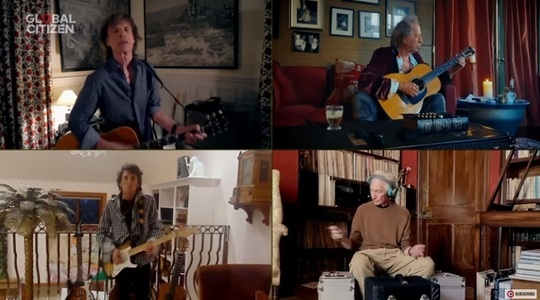 "The Rolling Stones, Lady, Gaga, Elton John, John Legend, J Lo, în concertul virtual gigant ""One World: Together at home"" - VIDEO"