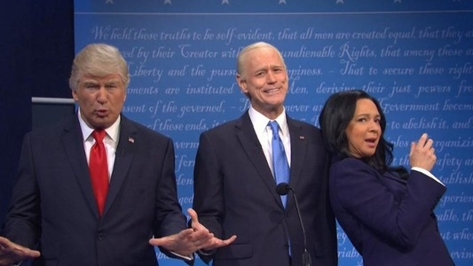 """Saturday Night Live"": Ultima confruntare dintre Trump şi Biden, parodiată la NBC de Alec Baldwin, Jim Carrey şi Maya Rudolph - VIDEO"