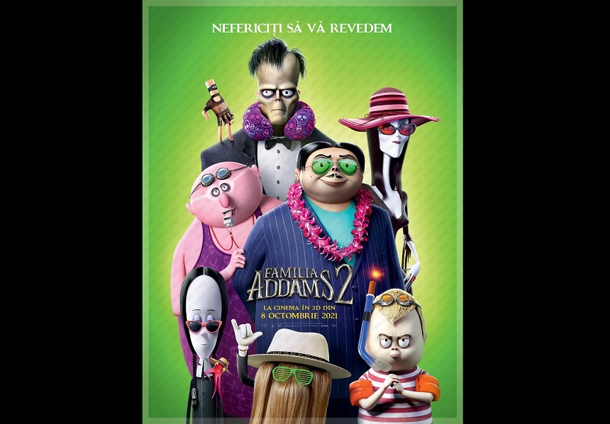 """Animaţia """"The Addams Family 2"""", un roadmovie exotic cu aventuri stranii şi umor bizar, din 8 octombrie la cinema"""