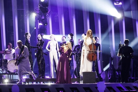 Eurovision 2018: Trupa The Humans a impresionat audienţa şi a adus în premieră pe scena de la Altice Arena 31 de manechine - VIDEO