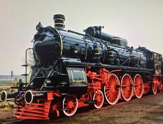 Locomotiva cu aburi a trenului regal