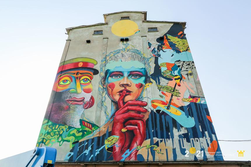 Cea mai mare pictură murală din România a fost creată la Timişoara - FOTO