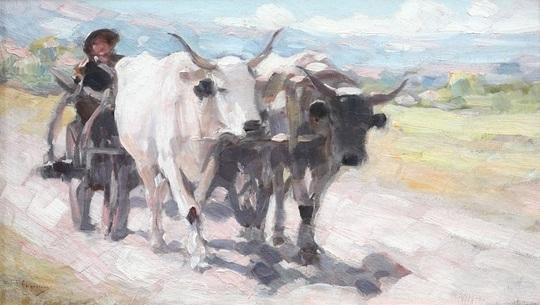"""""""Car cu boi"""", de Nicolae Grigorescu"""