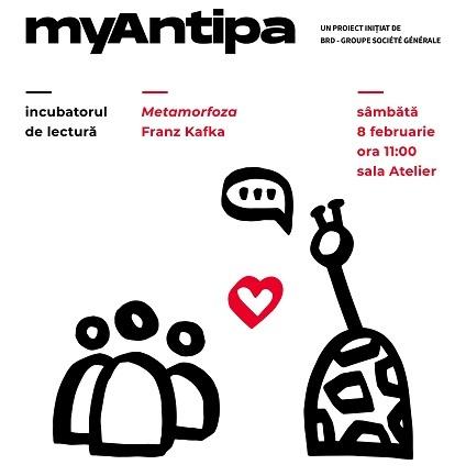 """Proiect MyAntipa - Un atelier de lectură care va avea în prim-plan cel mai cunoscut gândac din literatura universală, personajul principal din """"Metamorfoza"""" lui Kafka"""