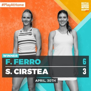 Sorana Cîrstea, eliminată în semifinale la Mutua Madrid Open Virtual Pro
