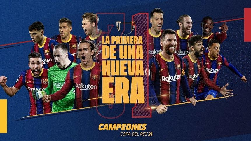 FC Barcelona a câştigat Cupa Spaniei învingând... | News.ro