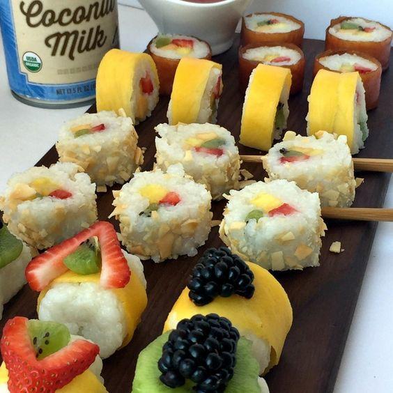 Ai mâncat vreodata sushi DESERT? Atunci trebuie să încerci această rețetă. Copiii o vor adora