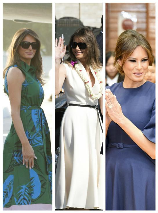 Melania Trump, periplu în haine de gală. A făcut furori în Hawaii şi Japonia, îmbrăcată aşa!