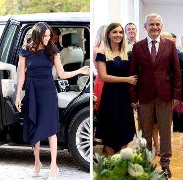 Iubita lui Liviu Dragnea, ţinută inspirată din garderoba Ducesei de Sussex. Cine o poartă mai bine?