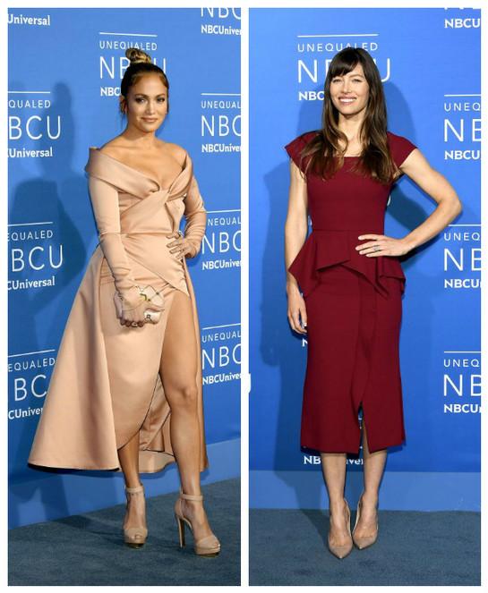 Jessica Biel şi Jennifer Lopez, duelul ţinutelor lady like pe acelaşi covor roşu