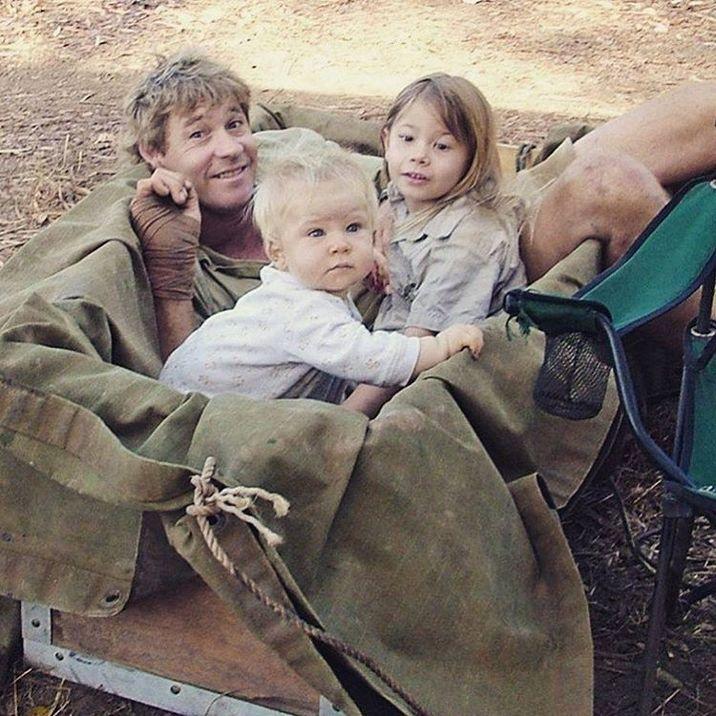 Steve Irwin şi copiii săi