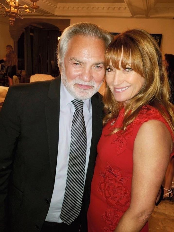 Jane şi actualul ei partener de viaţă, David