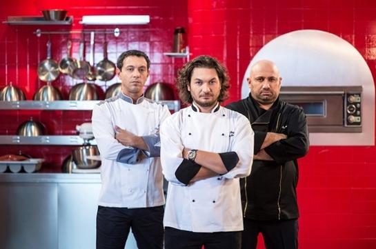 Sorin Bontea, Florin Dumitrescu şi Cătălin Scărlătescu, adversari într-un nou cooking show