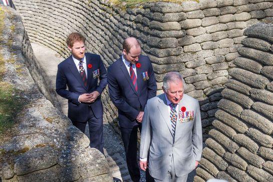 Prinţii Charles, William şi Harry, trei prezenţe elegante la un eveniment în Franţa