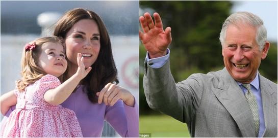 Momentul adorabil în care Prinţesa Charlotte îşi ia la revedere de la bunicul ei, Prinţul Charles